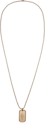 Valentino Gold Dog Tag Necklace $295 thestylecure.com