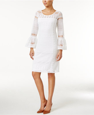 Alfani Crochet Illusion Dress, Only at Macy's $109.50 thestylecure.com