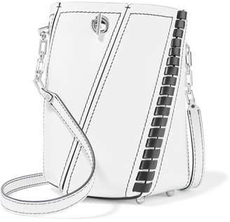 Proenza Schouler Hex Mini Paneled Leather Shoulder Bag - White
