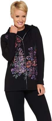 Susan Graver Weekend French Terry Embellished Printed Jacket
