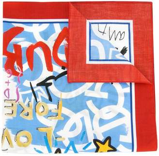 Dolce & Gabbana graffiti print scarf