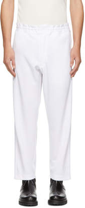 Comme des Garcons White Smooth Lounge Pants