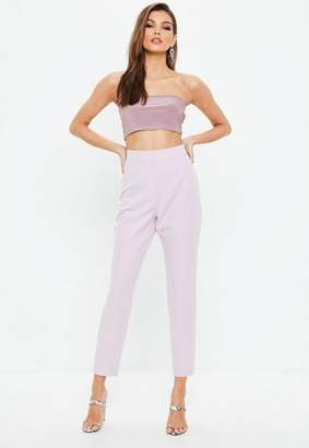 Missguided Pink Cigarette Trousers, Pink