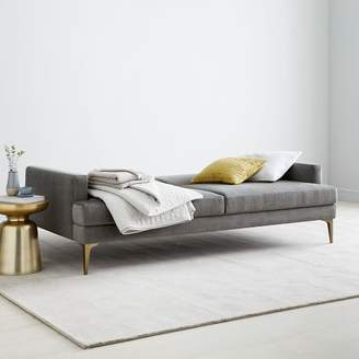 "west elm Andes Full Futon (83.5"") - Metal (Distressed Velvet)"