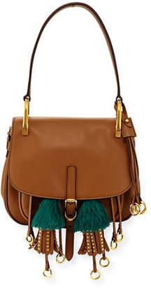 Prada Corsaire Calf Leather Fringe Shoulder Bag