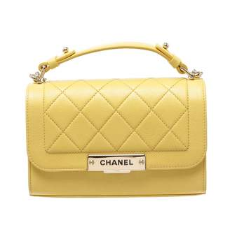 Chanel Yellow Leather Handbag