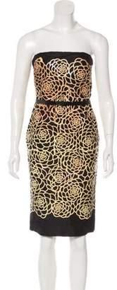 Alexander McQueen Strapless Silk Dress Black Strapless Silk Dress