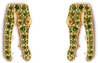 Marc Alary Diamond & yellow-gold earrings