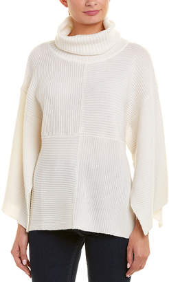 Qi Ribbed Wool & Cashmere-Blend Poncho