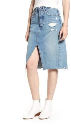 Levi's R Deconstructed Denim Skirt