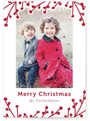 Winterberry Branches Custom Selflaunch Stationery