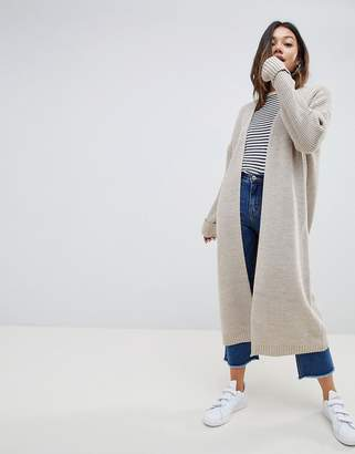 Asos Design DESIGN Chunky Cardigan In Maxi Length