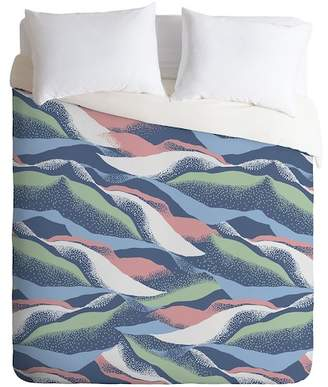 Deny Designs Gabriela Fuente Mount King Duvet Cover - Blue