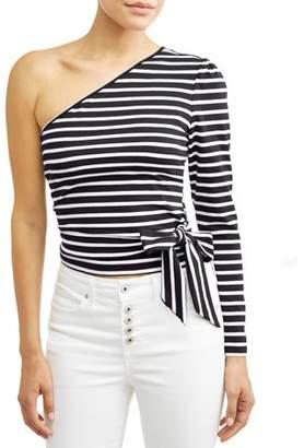 566bdd6d505730 Sofia Jeans by Sofia Vergara One Shoulder Wrap Top Women's