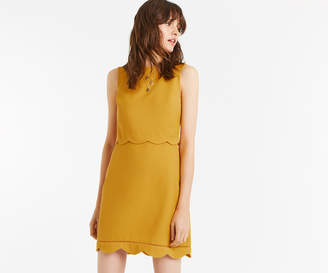 Oasis SCALLOP DOUBLE LAYER DRESS