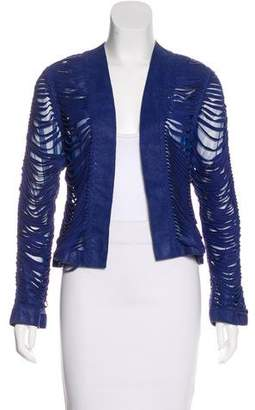 Alexis Leather Laser Cut Jacket