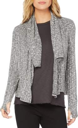 Michael Stars Jasper Poorboy Draped Neck Crop Cardigan
