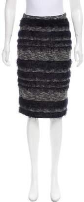 Nicole Miller Fringe-Accented Pencil Skirt