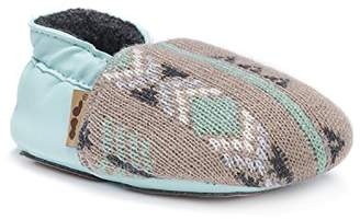 Muk Luks Girls' Baby Soft Shoes-Winter Green Mary Jane Flat
