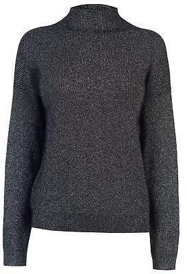 JDY Womens Julia Metallic Jumper Sweater Pullover Long Sleeve Turtle Neck
