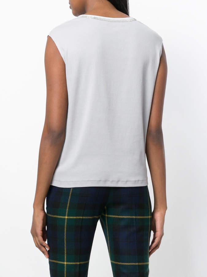 Fabiana Filippi embellished v-neck T-shirt