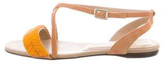 Roger Vivier Beaded Flat Sandals w/ Tags