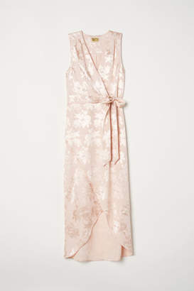 H&M Jacquard-weave Dress - Orange
