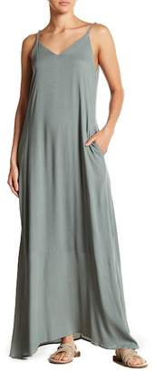 WEST KEI Gauze V-Neck Maxi Dress