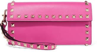 Valentino Garavani The Rockstud Leather Continental Wallet - Pink