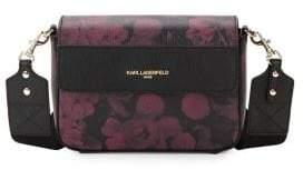 Karl Lagerfeld Paris Printed Leather Crossbody Bag
