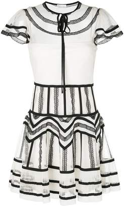 RED Valentino lace patterned trim dress