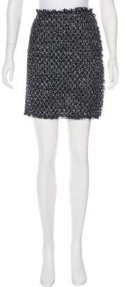 Lanvin Frayed Mini Skirt
