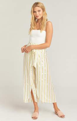 Show Me Your Mumu The Beach Pants ~ South Beach Stripe Gold