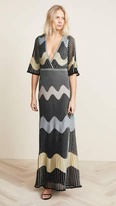 M Missoni Deep V Maxi Dress