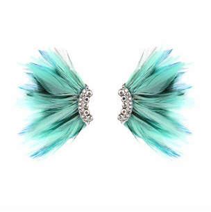 Mignonne Gavigan Lux Feather Mini Madeline Earrings