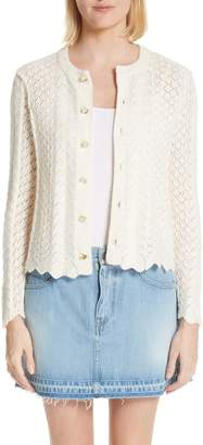 Marc Jacobs Scallop Edge Cashmere & Wool Blend Cardigan