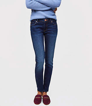 LOFT Petite Curvy Skinny Jeans in Rich Dark Indigo Wash