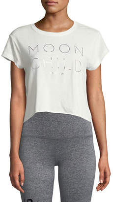 Spiritual Gangster Moon Child Short-Sleeve Crop Top