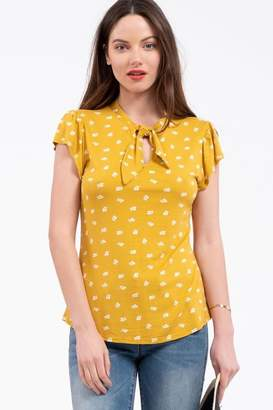 Mine Mustard Leaf Blouse