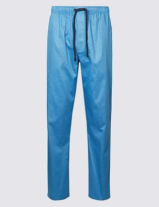 Marks and Spencer Supima® Cotton Spotted Pyjama Bottoms