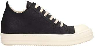 Drkshdw Black Canvas Low Sneaks Sneakers