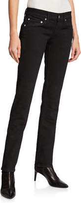 Helmut Lang Femme Lo High-Waist Split Cigarette Pants