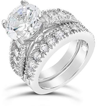 Sterling Forever Sterling Silver Brilliant CZ Ring & Band