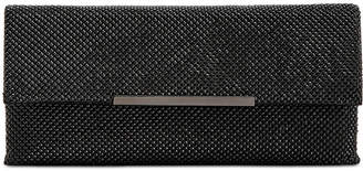 INC International Concepts Inc Hether Shiny Mesh Clutch