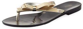 Melissa Shoes Harmonic Chrome Bow Slide Sandal