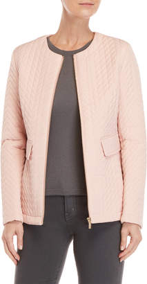 Karl Lagerfeld Light Pink Quilted Jacket