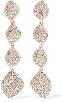 Monica Vinader Nura Rose Gold Vermeil Diamond Earrings - one size