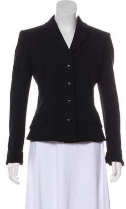 Versace Wool Notch-Lapel Jacket