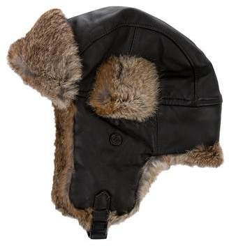 Wigens Leather Fur-Trimmed Trapper