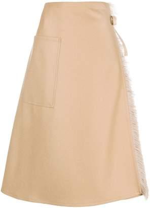 Sofie D'hoore fringe-trimmed kilt skirt
